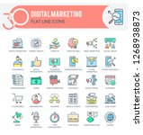 set of modern icons of... | Shutterstock .eps vector #1268938873