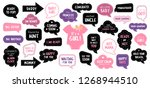 baby shower photo booth props.... | Shutterstock . vector #1268944510