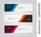 vector abstract web banner... | Shutterstock .eps vector #1268963383
