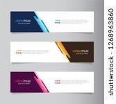 vector abstract web banner... | Shutterstock .eps vector #1268963860