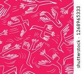 doodle birds seamless pattern... | Shutterstock .eps vector #1268965333
