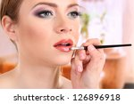 make up backstage | Shutterstock . vector #126896918