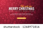 merry christmas and happy new... | Shutterstock . vector #1268971816