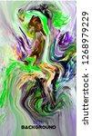 modern design.abstract oil... | Shutterstock .eps vector #1268979229