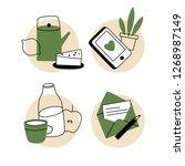 set of garden furniture vector...   Shutterstock .eps vector #1268987149