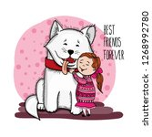 best friends hand drawn vector | Shutterstock .eps vector #1268992780