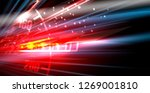 racing car light in motion... | Shutterstock .eps vector #1269001810