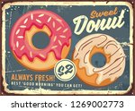 donuts retro commercial sign... | Shutterstock .eps vector #1269002773