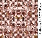 florid checkered pattern....   Shutterstock .eps vector #1269006556