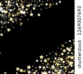 diagonal border from confetti... | Shutterstock .eps vector #1269007693