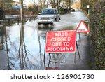 vehicle ignoring road closed... | Shutterstock . vector #126901730