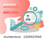 online recruitment vector...