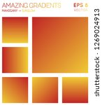 colorful gradients in mahogany  ... | Shutterstock .eps vector #1269024913