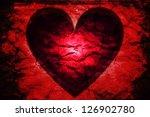 Dark Passion  Glowing Red Hear...