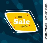 sale banner vector isolated on... | Shutterstock .eps vector #1269041086