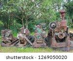 rusty metal old machine in... | Shutterstock . vector #1269050020