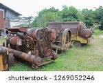 rusty metal old machine in... | Shutterstock . vector #1269052246