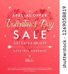 valentines day special offer... | Shutterstock .eps vector #1269058819
