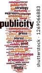 publicity word cloud concept.... | Shutterstock .eps vector #1269066883