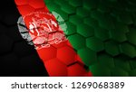 flag of afghanistan rendered on ... | Shutterstock . vector #1269068389