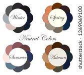 seasonal color analysis. set of ... | Shutterstock .eps vector #1269069100