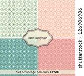 Stock vector set of vintage patterns universal background pattern texture vector illustration eps 126906986