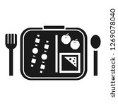 time to lunch icon. simple... | Shutterstock . vector #1269078040