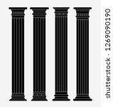 set of four classic greek ... | Shutterstock .eps vector #1269090190