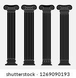 set of four classic greek ... | Shutterstock .eps vector #1269090193
