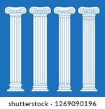 set of four classic greek ... | Shutterstock .eps vector #1269090196
