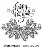 happy new year.vector... | Shutterstock .eps vector #1269109699