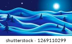happy new year. winter holiday... | Shutterstock .eps vector #1269110299