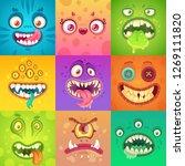 funny halloween monsters. cute... | Shutterstock . vector #1269111820
