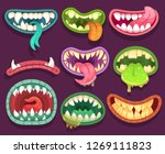 monsters mouths. halloween... | Shutterstock . vector #1269111823