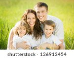 happy family having fun... | Shutterstock . vector #126913454