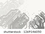 vector eps10. grayscale printed ... | Shutterstock .eps vector #1269146050