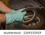 cleaning an wood stove | Shutterstock . vector #1269152929