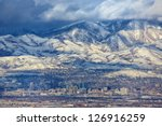 a zoomed in view of downtown... | Shutterstock . vector #126916259