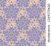 seamless oriental ornamental... | Shutterstock .eps vector #1269170650