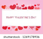 valentine hearts and happy... | Shutterstock .eps vector #1269178936