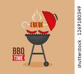 barbecue grill design | Shutterstock .eps vector #1269180349