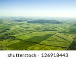 aerial view of a green rural... | Shutterstock . vector #126918443