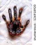Burned Handprint