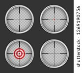 crosshair icon set. realistic...