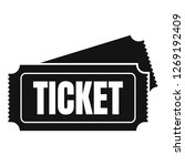 museum ticket icon. simple... | Shutterstock . vector #1269192409