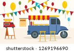 street food truck concept... | Shutterstock . vector #1269196690