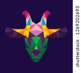 goat animal polygon low poly... | Shutterstock .eps vector #1269202693