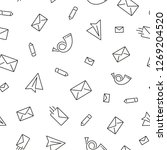 seamless pattern with mail.... | Shutterstock .eps vector #1269204520
