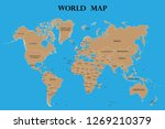 world map with countries names | Shutterstock .eps vector #1269210379