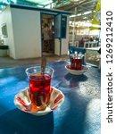 turkish tea in traditional tea... | Shutterstock . vector #1269212410